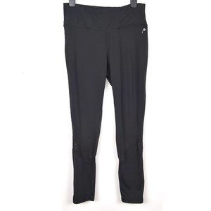 Head Black workout leggings with mesh detail on the legs